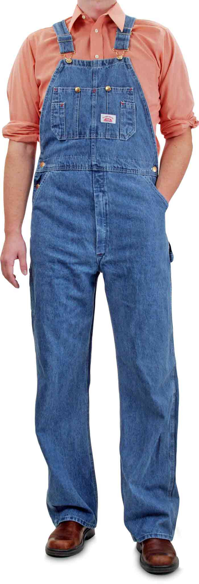 b56c148eca 699 Round House Made in USA Stone Washed Blue Denim Overalls – Round ...