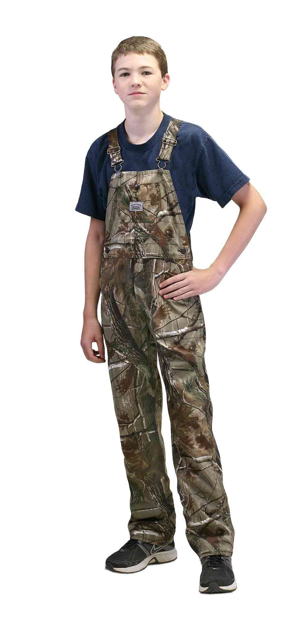 #179 Mossy Oak Break-Up Camo American Made Boys Overalls
