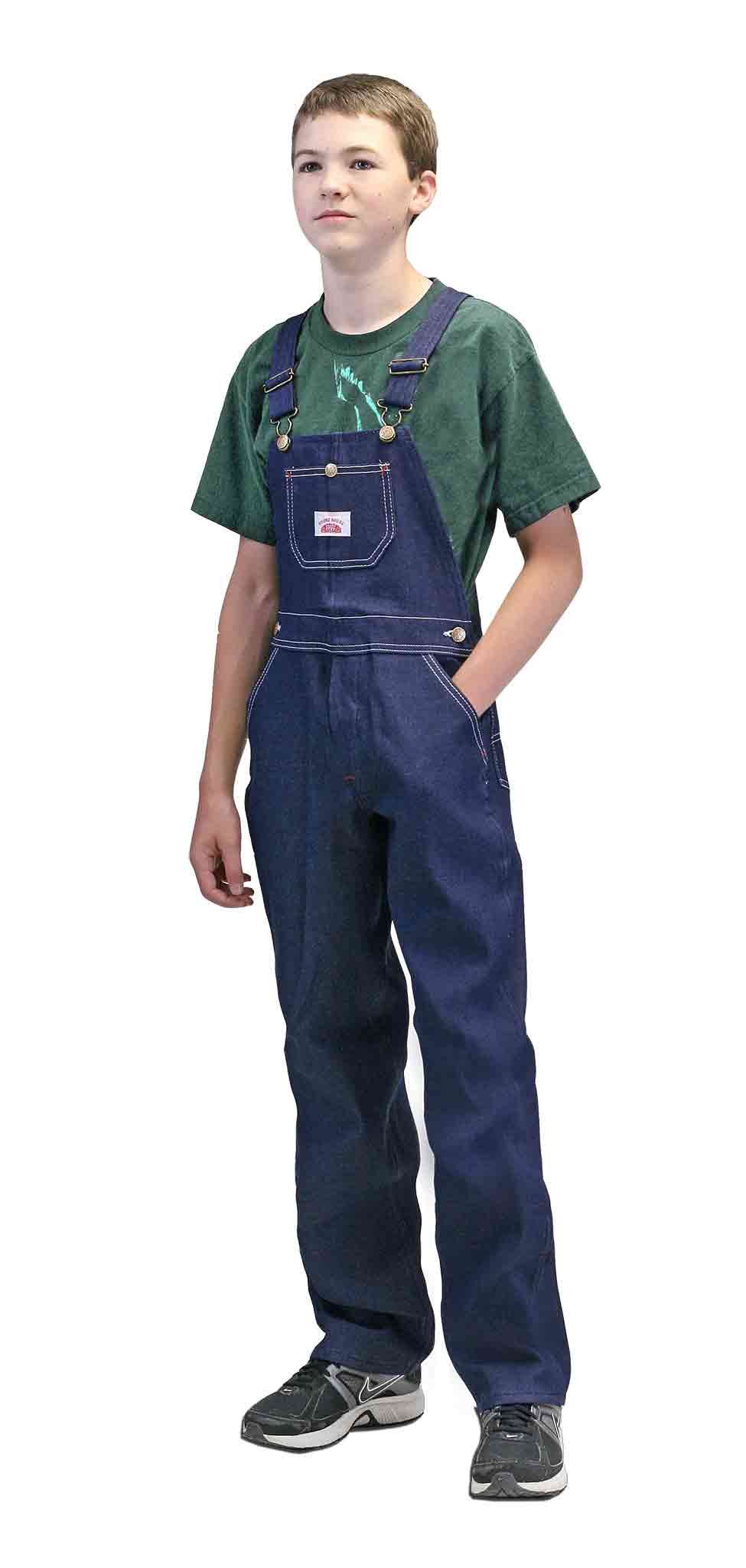 #9 Made in USA Youth Superior Blue Denim Bib Overall