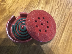 Floor Mozzie Coil Holder Red