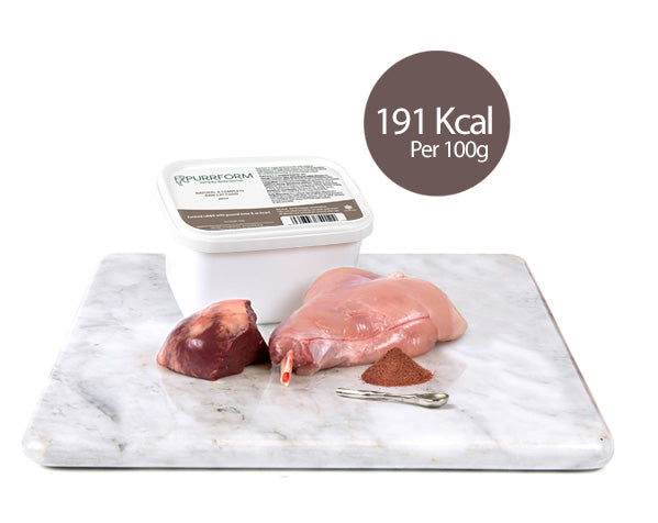 Farmed Rabbit & Ground Bone with Ox Heart  - Cat 450g Tub