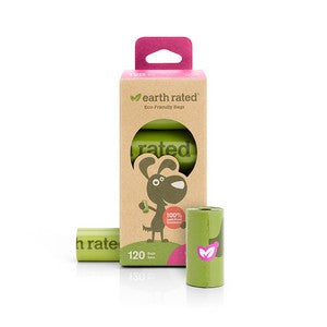 Earth Rated Rolled Poo Bags - scented 120