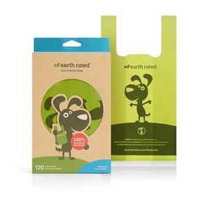 Earth Rated Flat with Handles Poo Bags - unscented 120