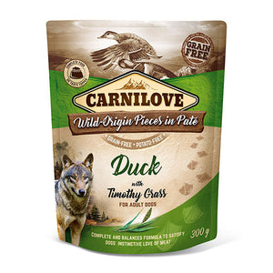 Carnilove Duck with Timothy Grass Wet Pouches 300g