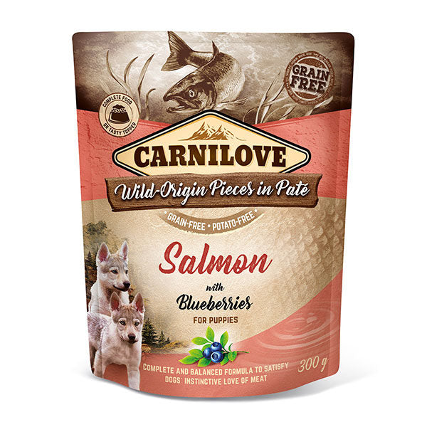 Carnilove Salmon with Blueberries Wet Pouches Puppy 300g