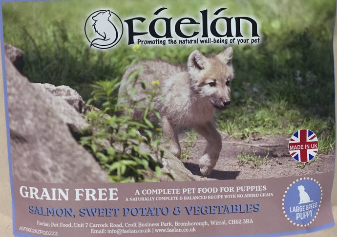 Fáelán Large Breed Puppy Grain Free Salmon with Sweet Potato & Vegetables