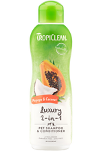 Load image into Gallery viewer, TropiClean Papaya & Coconut Shampoo