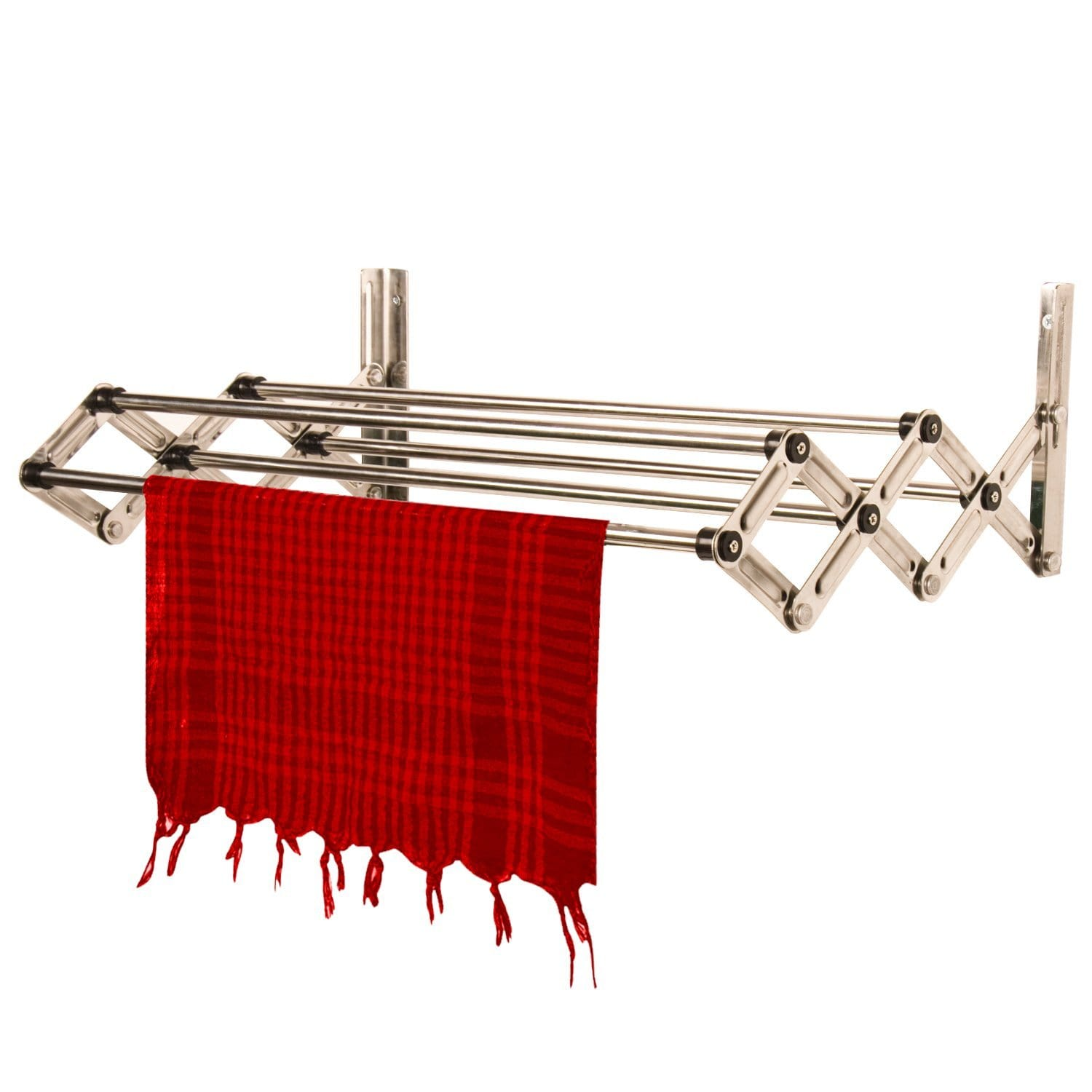 SU KASSA Stainless Steel Wall Mounted Cloth Dryer Stand with 5 Lines