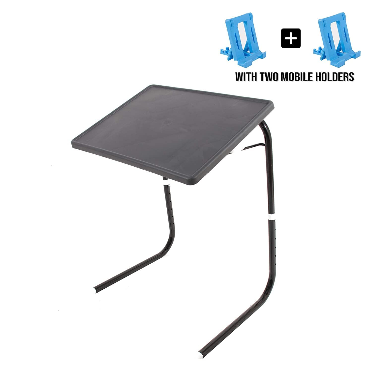 SU KASSA -Wudore Series Multi Purpose Table-  Utility Table -colour Full Black and Two Mobile Holder