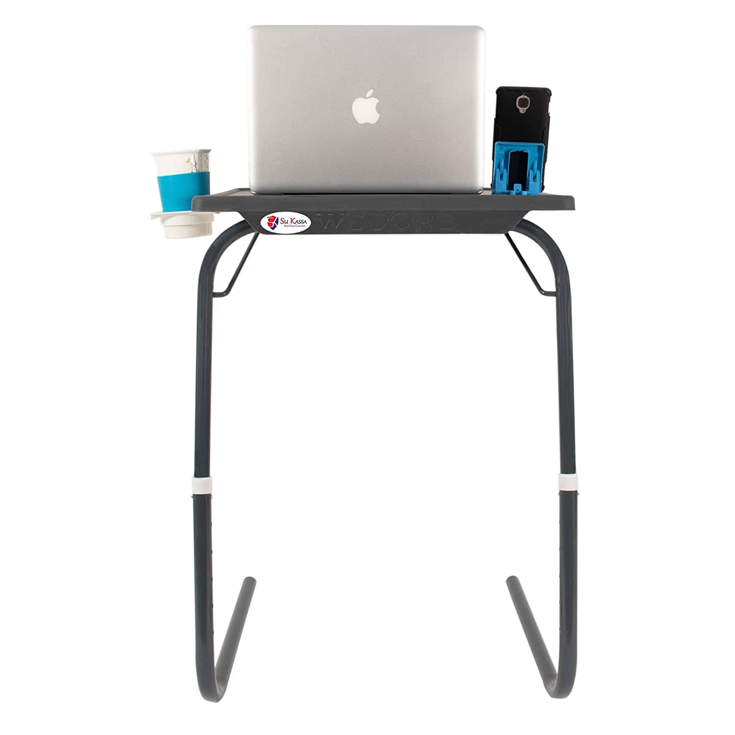 SU KASSA Wudore Series -Multi Purpose Utility Table-  Table Full Grey with Two Mobile Holders. - Kasa's Mart
