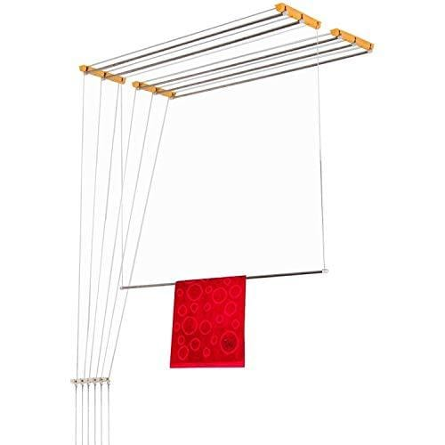 Su Kassa Luxury Ceiling Cloth Drying Hanger with One by One Drop Down Rods (6 Lines)