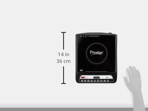 Prestige PIC 20 1200 Watt Induction Cooktop with Push button (Black)