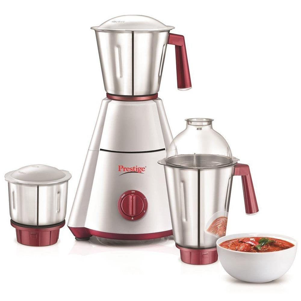 Prestige Nakshatra Plus 750W 750-Watt Mixer Grinder - Nakshatra Plus with 3 Jars (White/Red) - Kasa's Mart