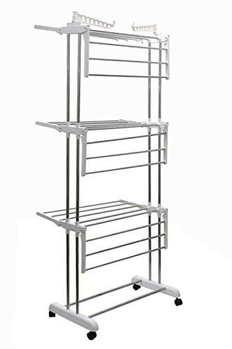 Su Kassa Clothes Drying Stand-Mobile 3 Wing - Kasa's Mart