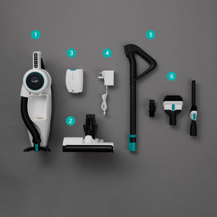 Lupe Pure Cordless vacuum cleaner dismantled