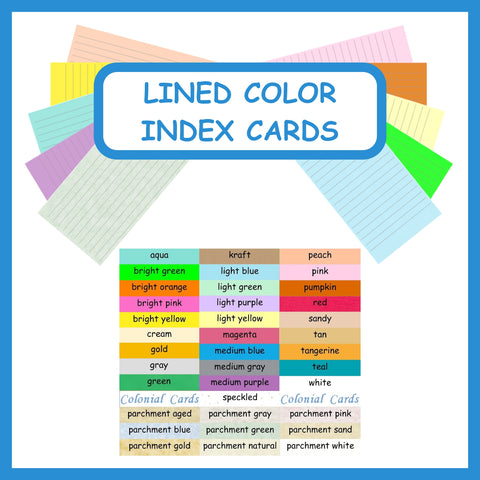Colonial Cards  Color Lined Paper