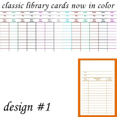 3x5 Classic White Library Cards design #1
