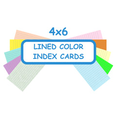 4 x 6 Index Cards Lined