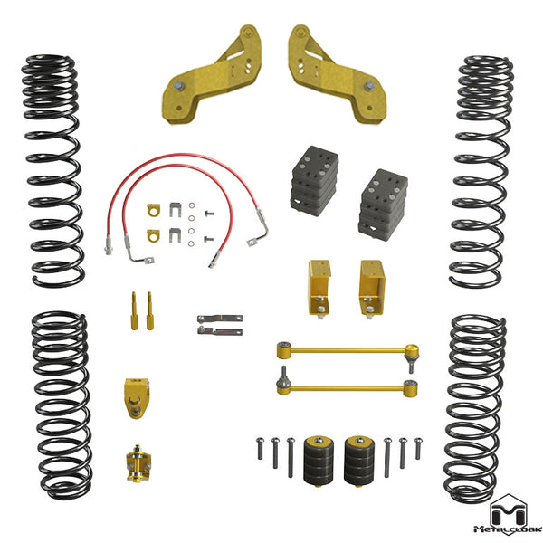 JK Wrangler Overland Touring Lift Kit, 2.5""