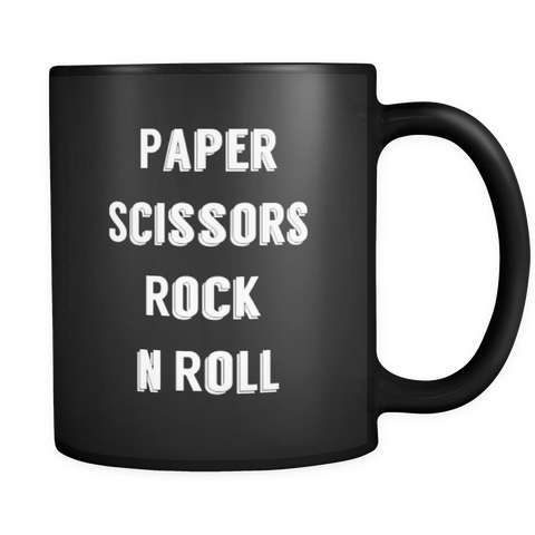 Paper, Scissors, Rock n Roll Mug