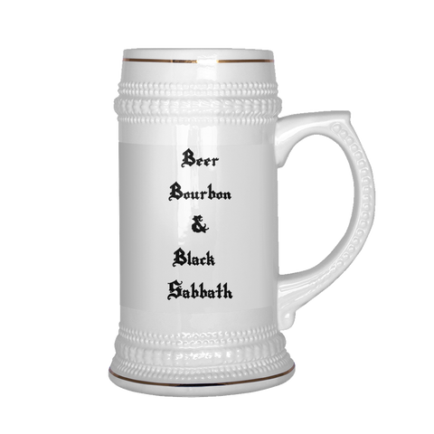 Beer, Bourbon & Black Sabbath Stein