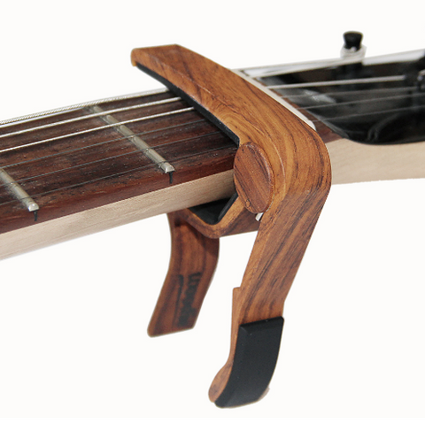 Stylish Wood Shade Guitar Capo