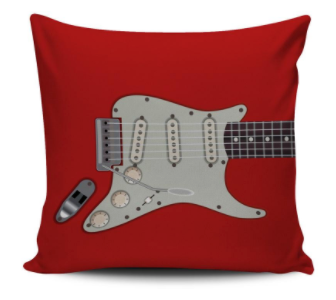 Electric Guitar Pillow Case (Red)