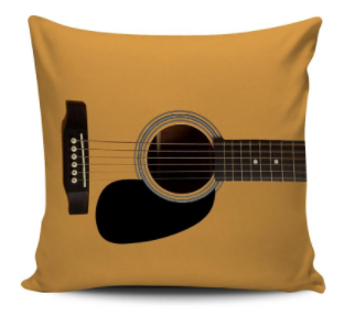 Guitar Acoustic Pillow Cover