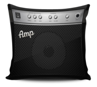 Guitar Amp Pillow Cover