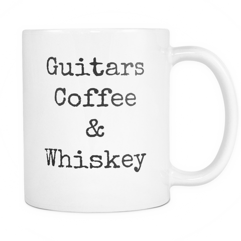 Guitars, Coffee & Whiskey Mug