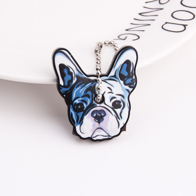 Cute Cartoon Keychain Silicone Stitch Protective Key Case Cover for Key Control Dust Cap Holder Gift Women Key Chain