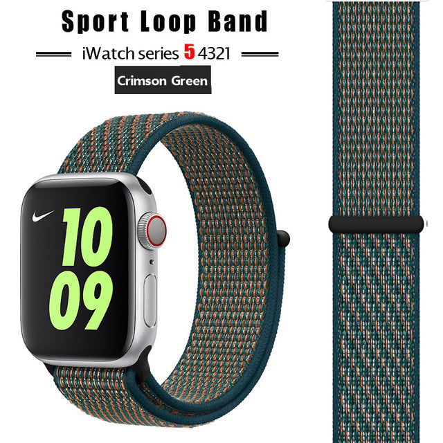 Strap For Apple Watch band 44 mm/40mm applewatch  42mm 38mm bracelet correa pulseira nylon loop watchband iwatch 5 4 3 series