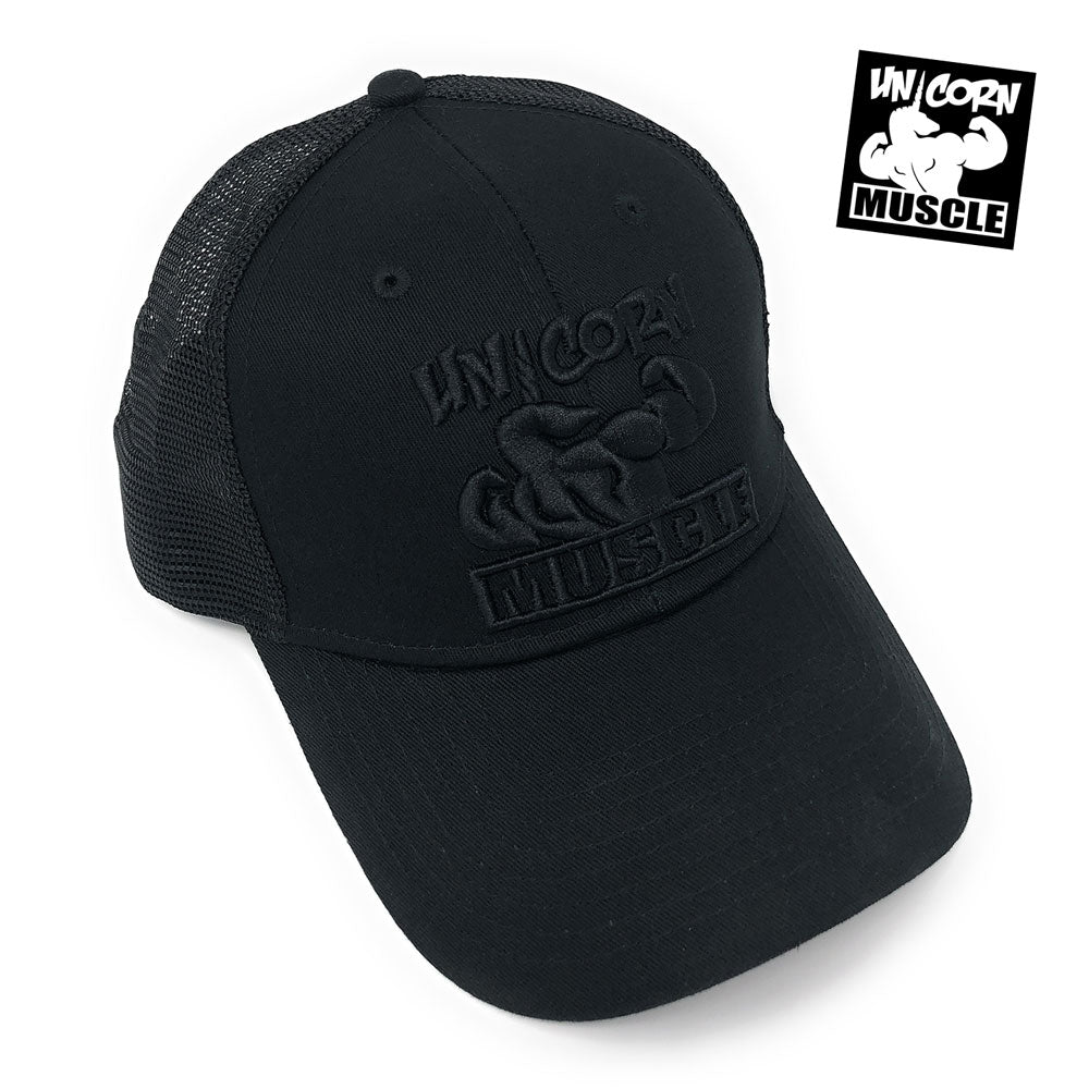 Black Unicorn Hat by Unicorn Muscle