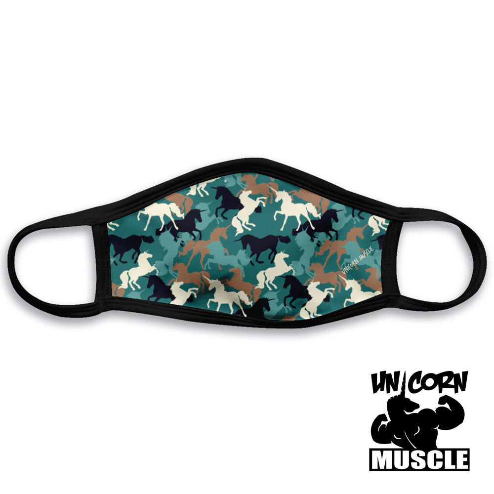 Unicorn Camo Triple Ply Cloth Mask by Unicorn Muscle