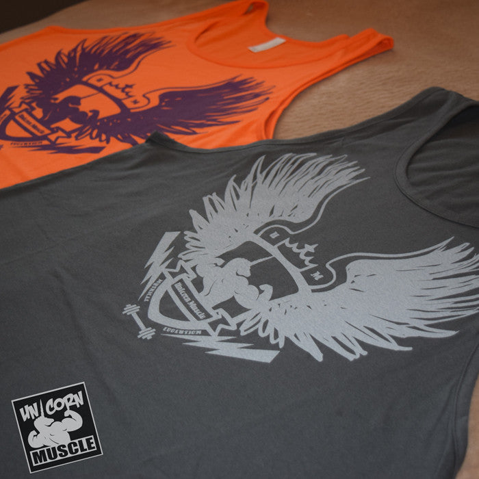 Winged Crest Men's Tank by Unicorn Muscle