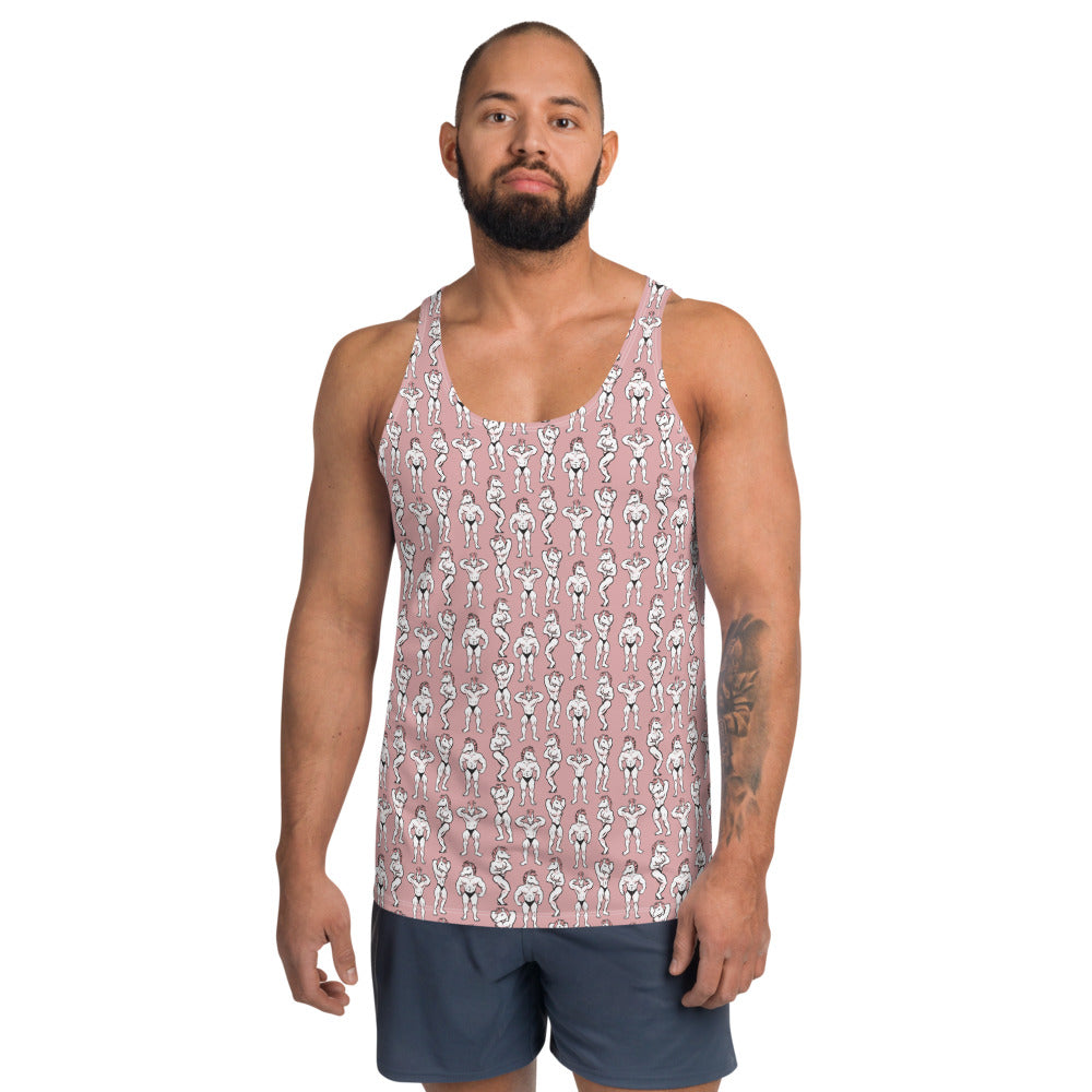 Unicorn Poses Allover Print Tank Top by Unicorn Muscle