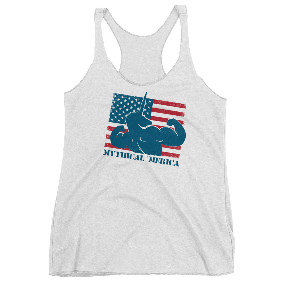 Mythical 'Merica Racerback by Unicorn Muscle