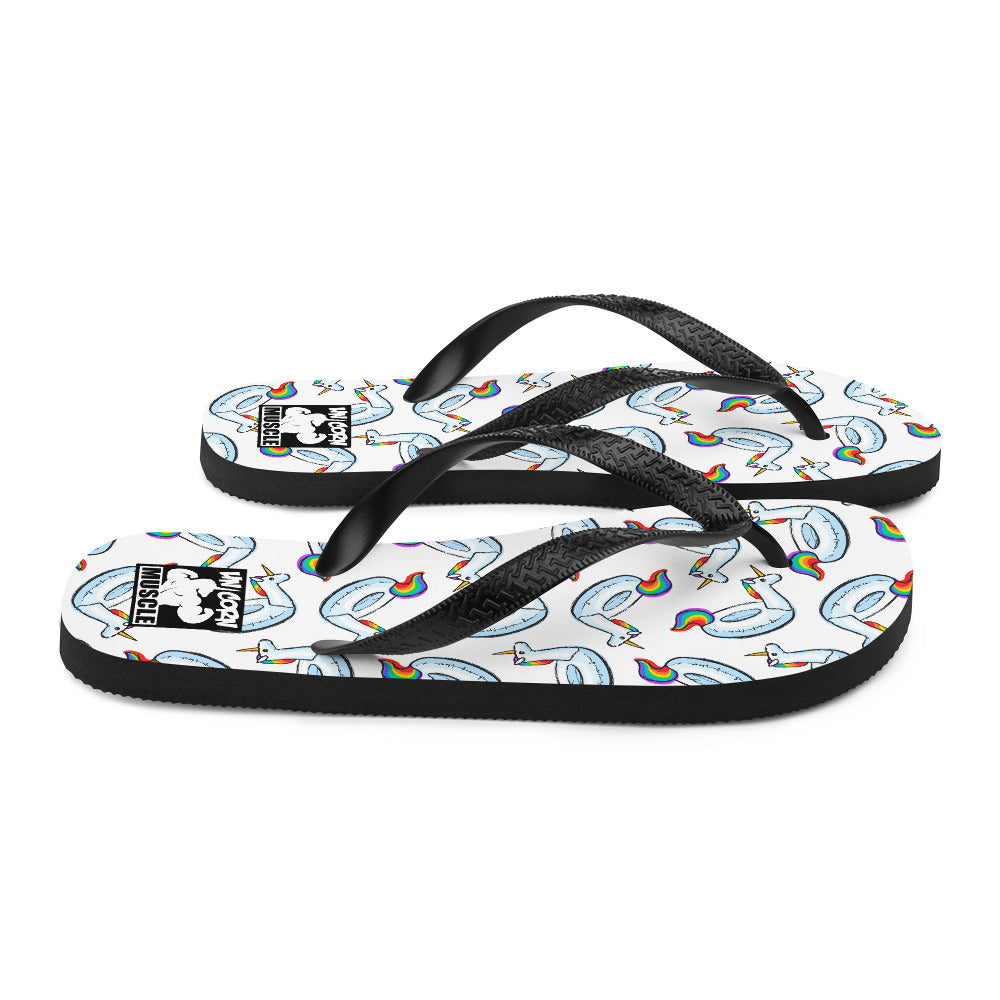 Unicorn Summer Flip-Flops by Unicorn Muscle
