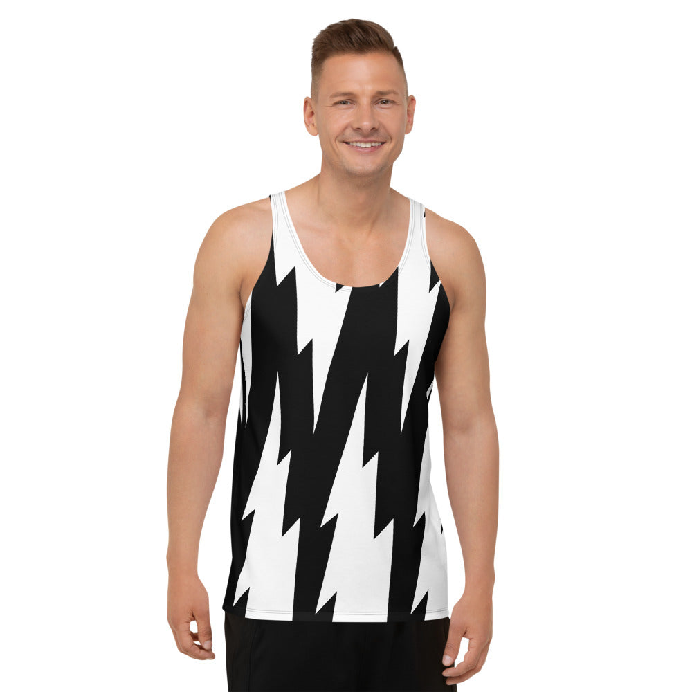 Lightning Allover Print Tank Top  by Unicorn Muscle