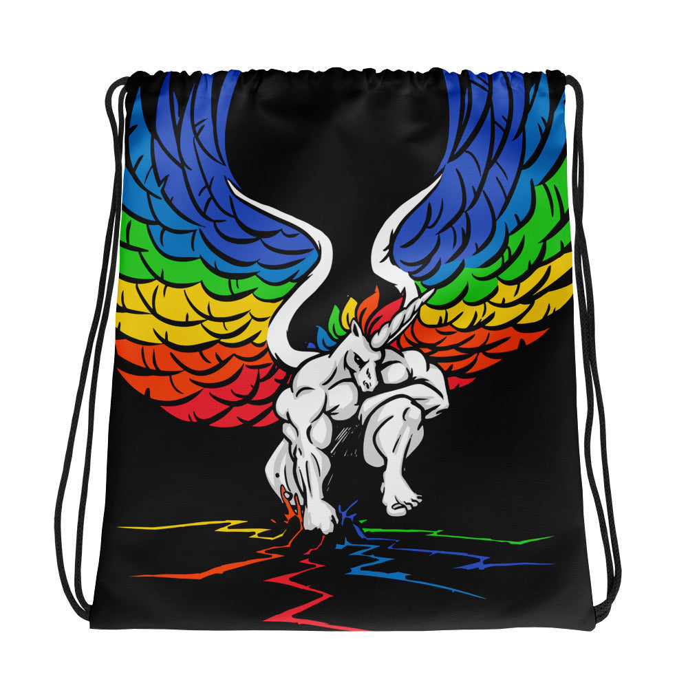 Pride Ground Drawstring bag by Unicorn Muscle