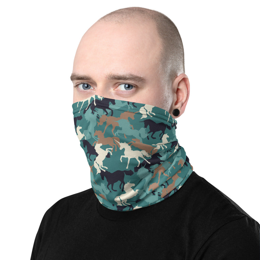Unicorn Camo Neck Gaiter Mask by Unicorn Muscle