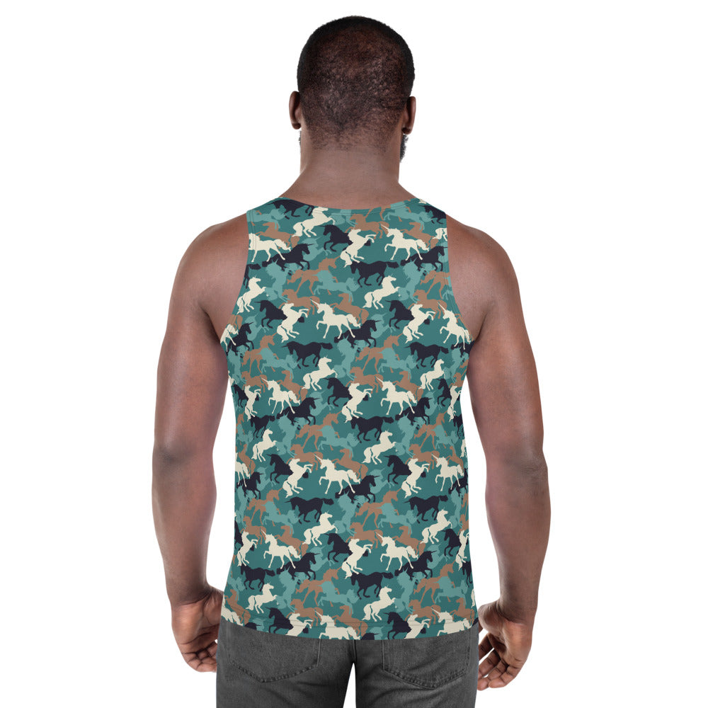 Unicorn Camo Allover Print by Unicorn Muscle