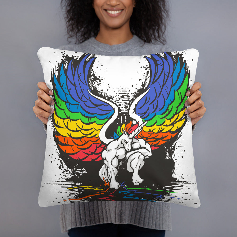 Stand Your Ground Pillow by Unicorn Muscle