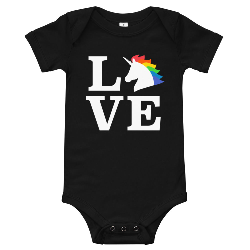 Unicorn Love infant bodysuit by Unicorn Muscle