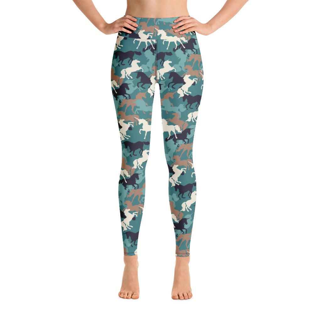 9b2858e8e1 Unicorn Camo Yoga Leggings by Unicorn Muscle