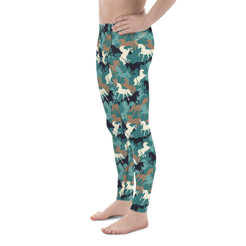 Unicorn Camo Men's Leggings by Unicorn Muscle