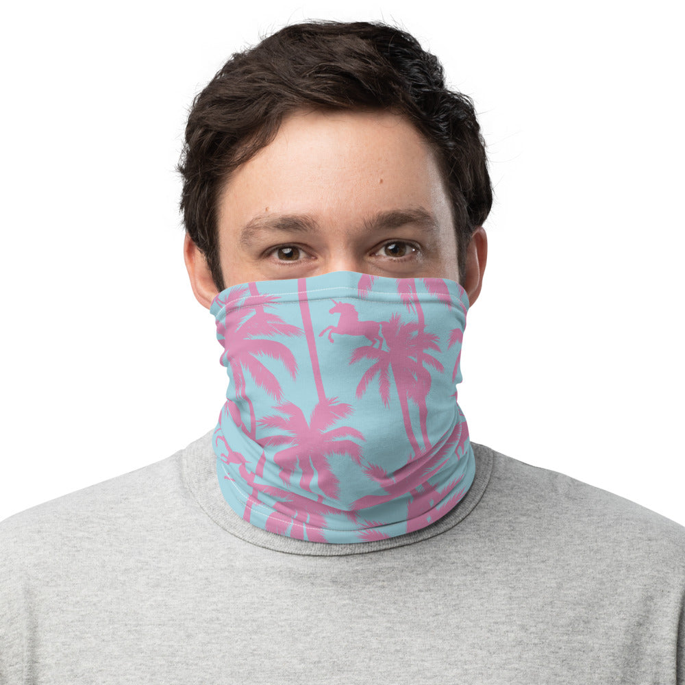 Unicorn Palms Neck Gaiter Mask by Unicorn Muscle