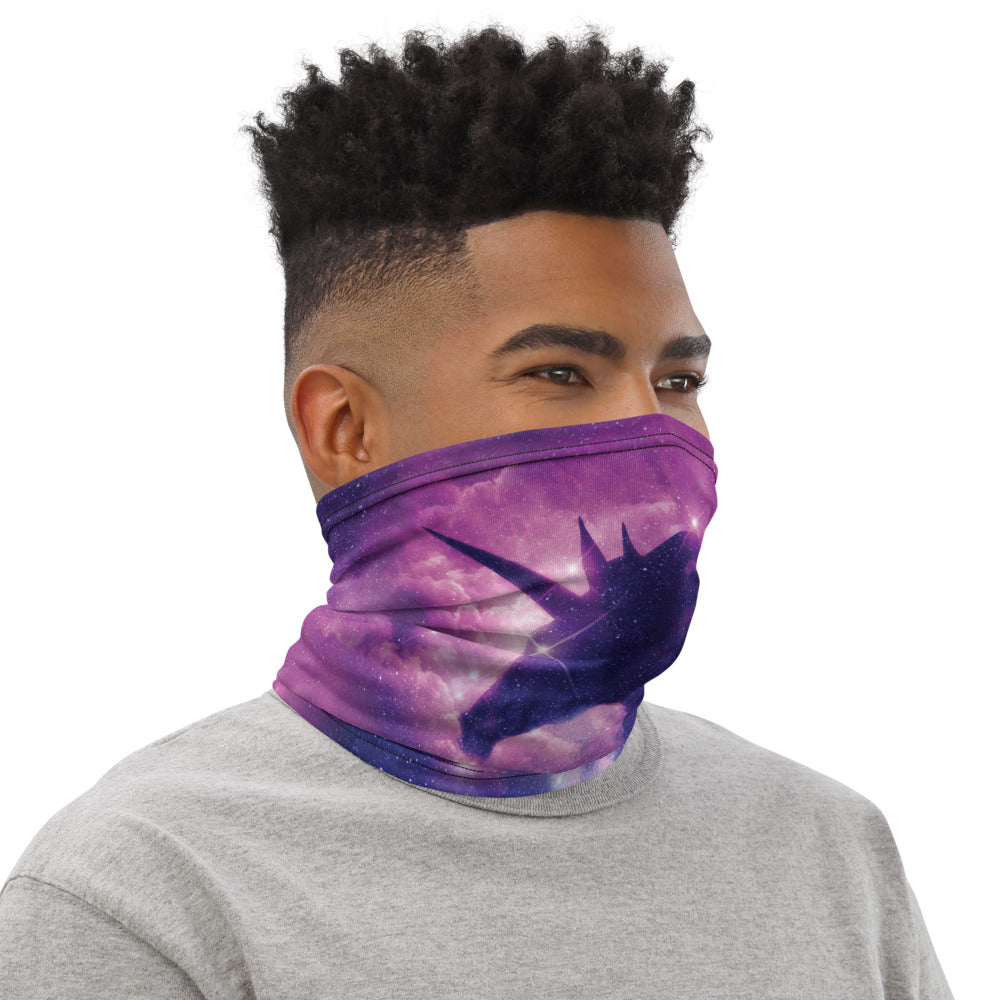 Galaxy Unicorn Neck Gaiter Mask by Unicorn Muscle
