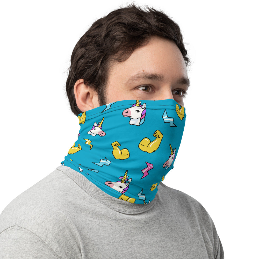 Unicorn Emoji Neck Gaiter Mask by Unicorn Muscle