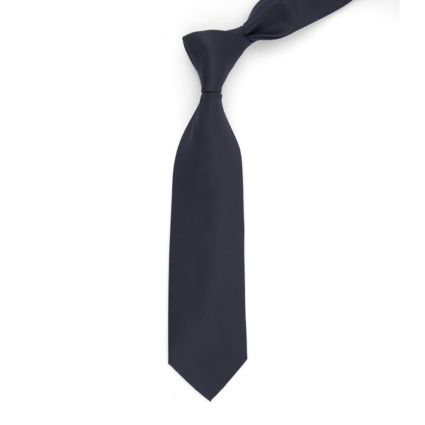 Black Plain Regular Tie